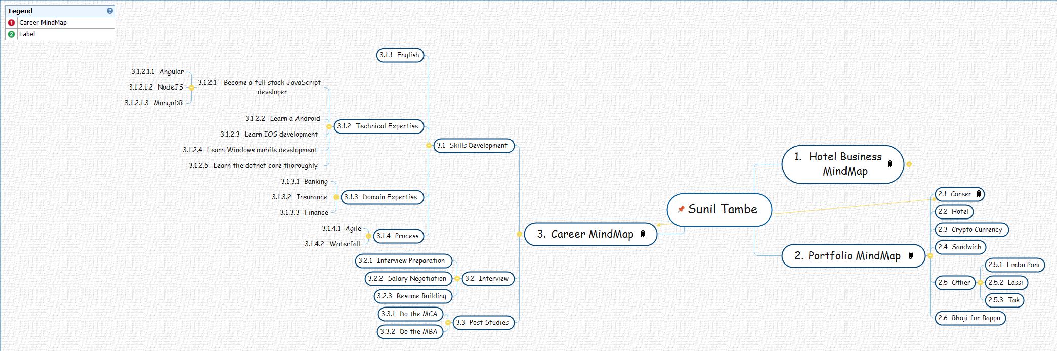 Sunil Tambe Mind Map