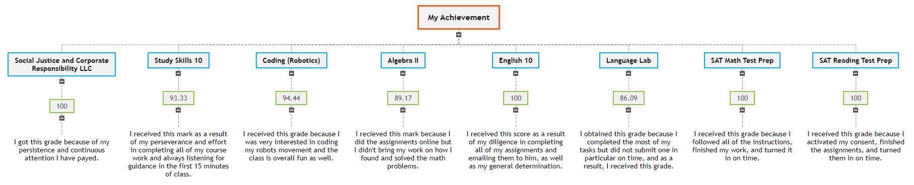 My Achievements (Project) Mind Map