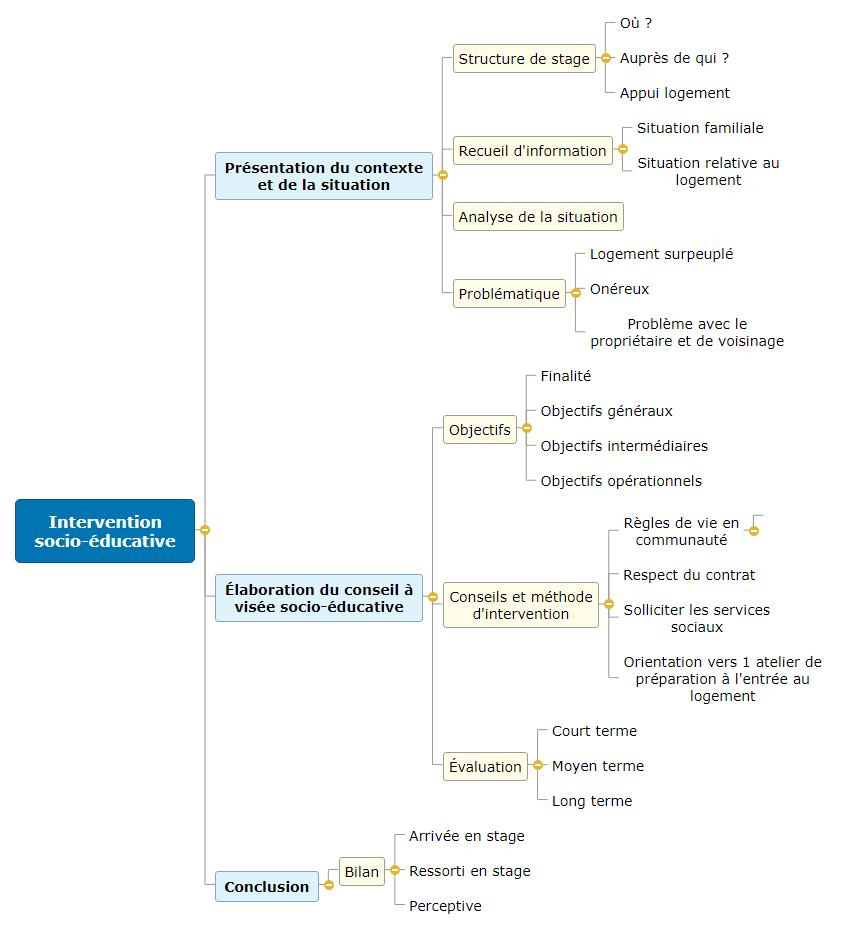 Intervention socio-éducative1 Mind Map