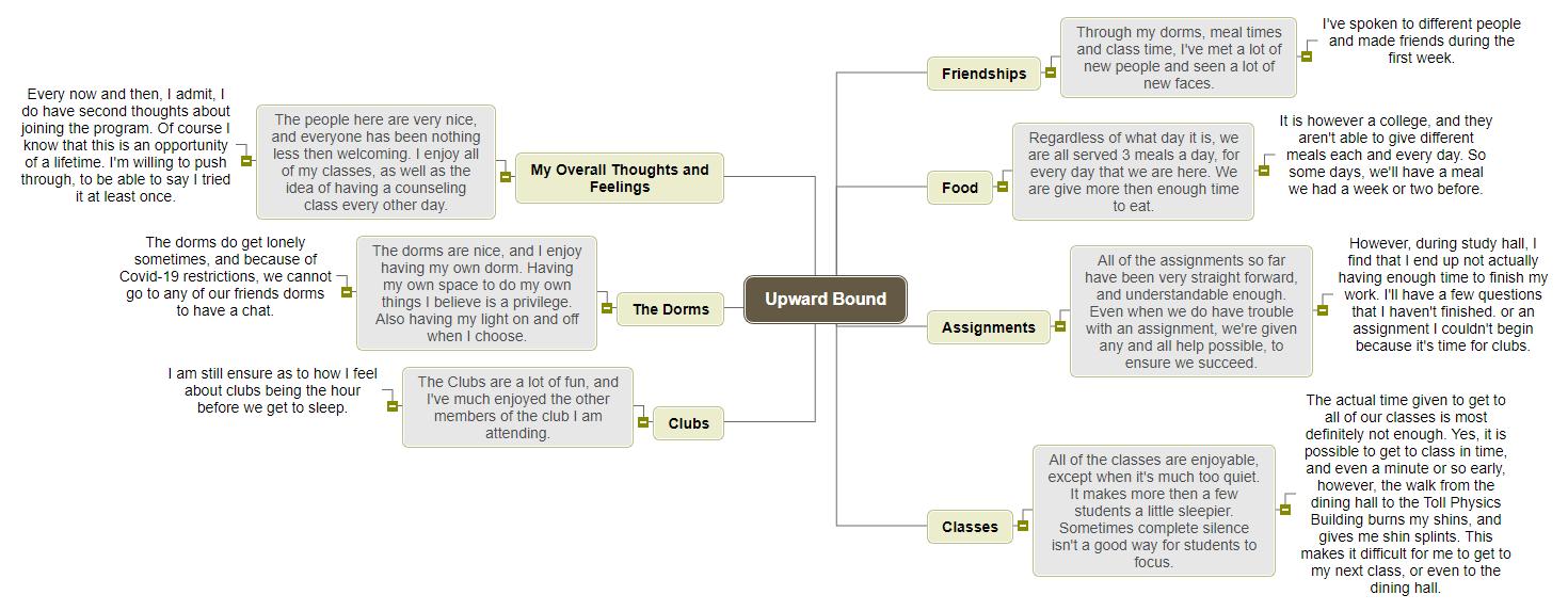 Upward Bound1 Mind Map