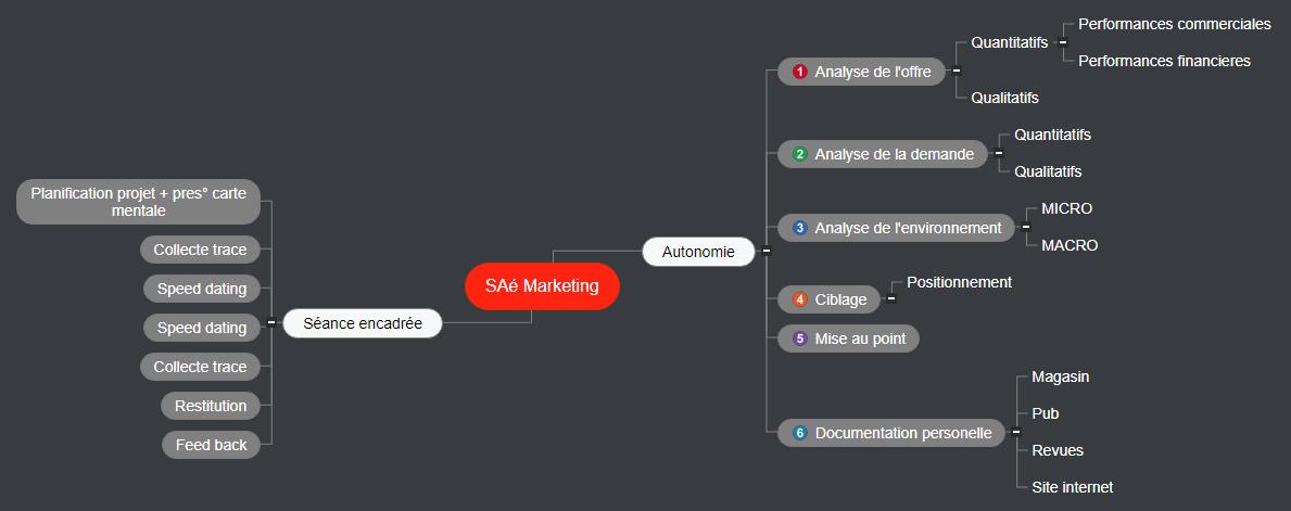 SAé Marketing date 2 Mind Map