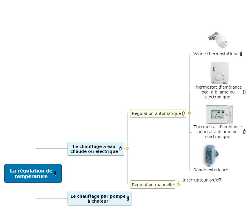 La régulation de température Mind Map