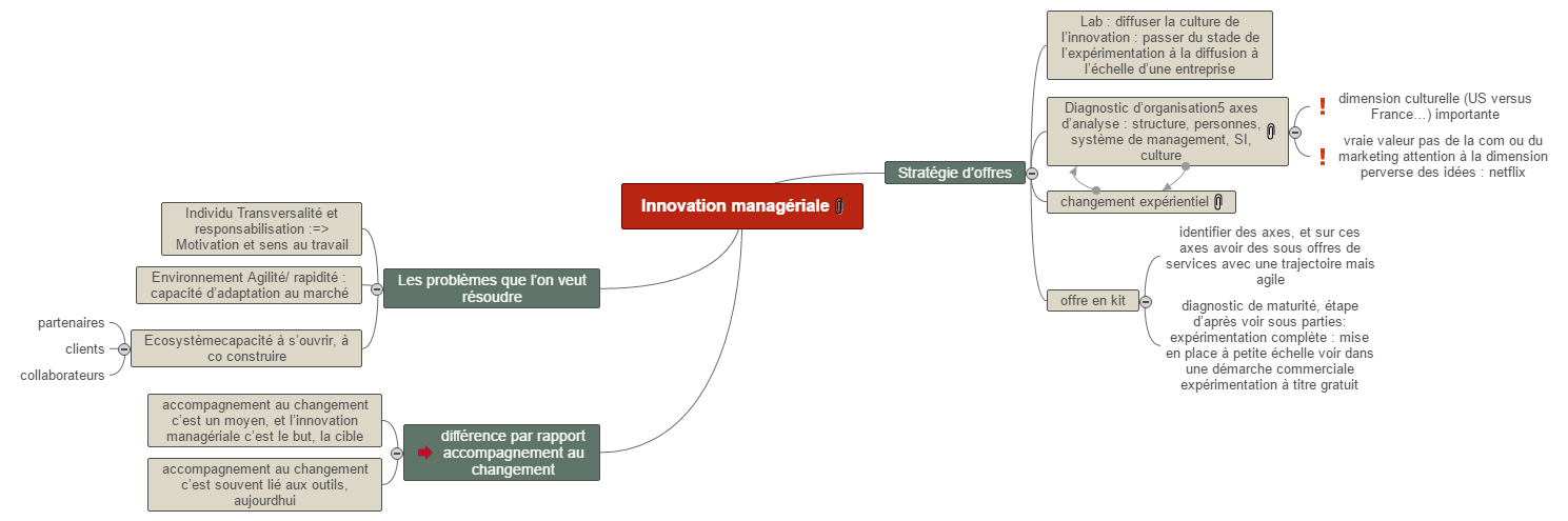 Innovation managériale Mind Maps