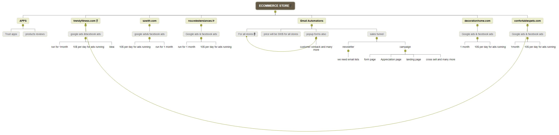 ECOMMERCE STORE Mind Map