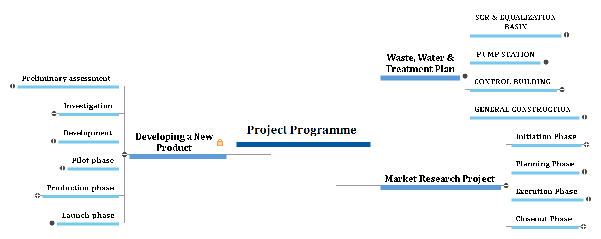 Project Programme Example Mind Map