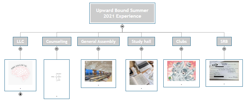 Upward Bound Summer 2021 Experience2 Mind Map