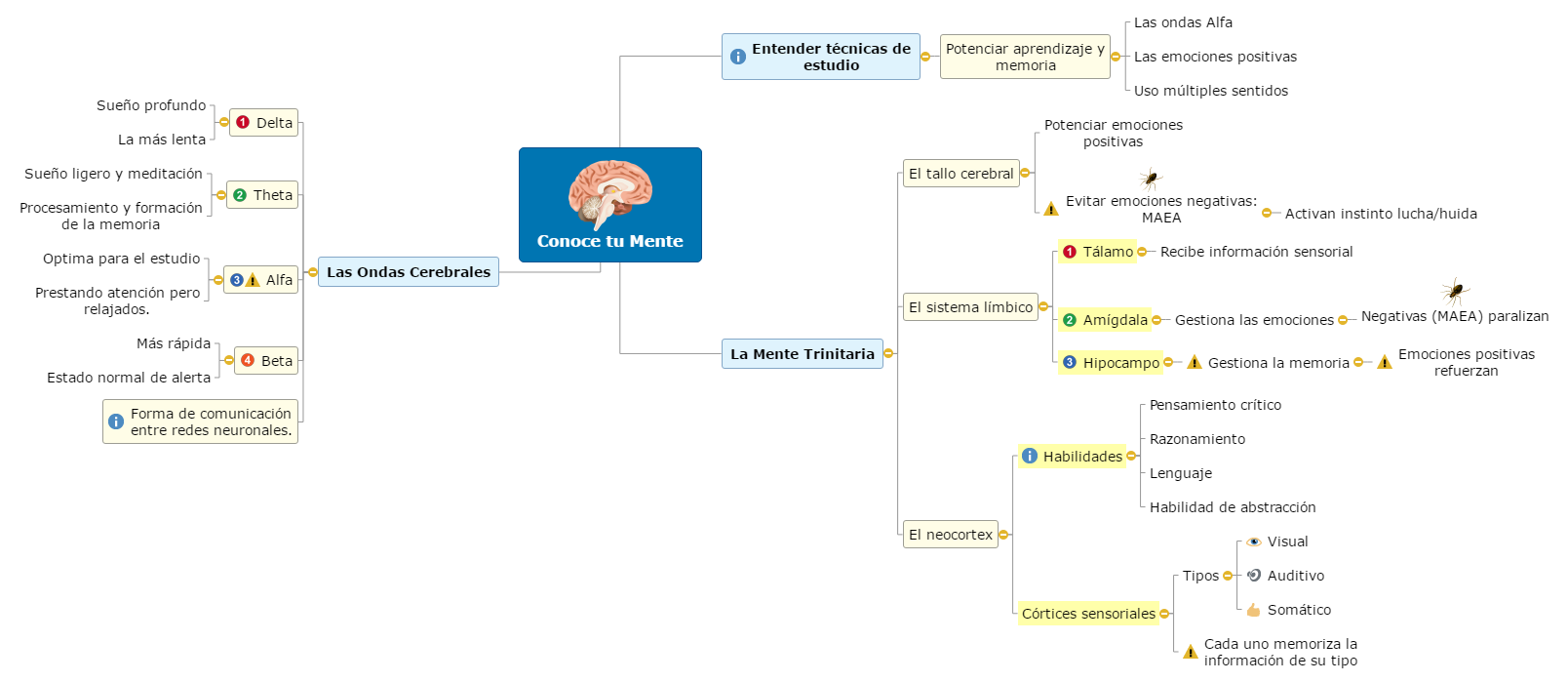 Conoce tu mente Mind Map