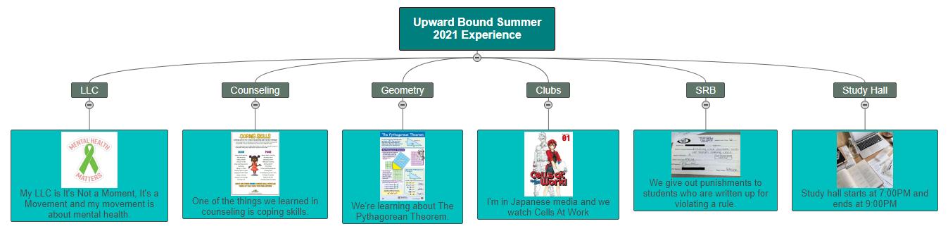 Upward Bound Summer 2021 Experience3 Mind Map