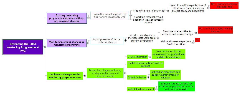 Reshaping the LDSA Mentoring Programme at FVC1 Mind Map