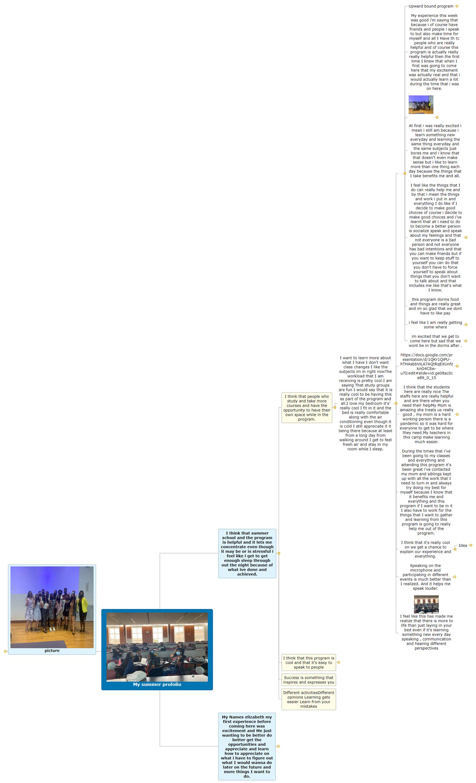 My summer profolio1 Mind Map
