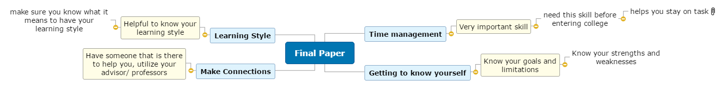 Final Paper Mind Map
