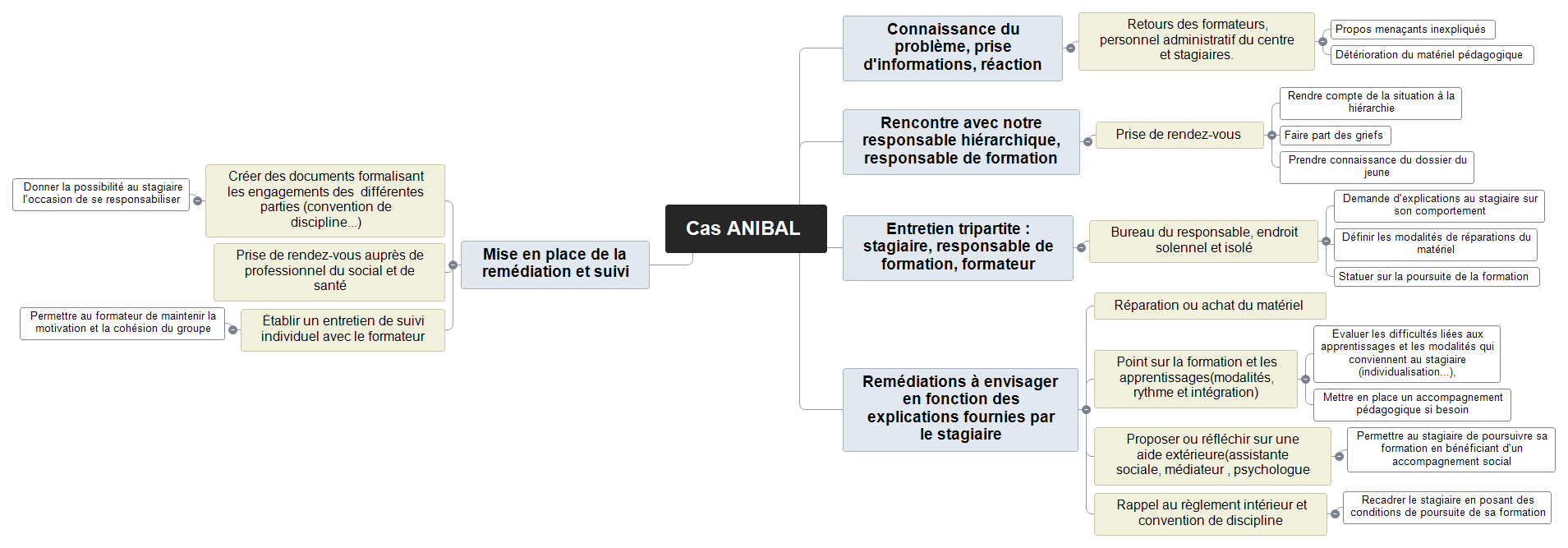 Cas ANIBAL Mind Maps