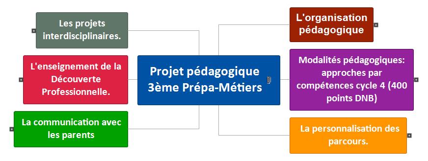 Projet pédagogique 3ème Prépa-Métiers Mind Maps