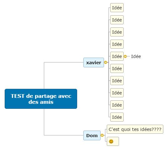 TEST de partage avec des amis Mind Map