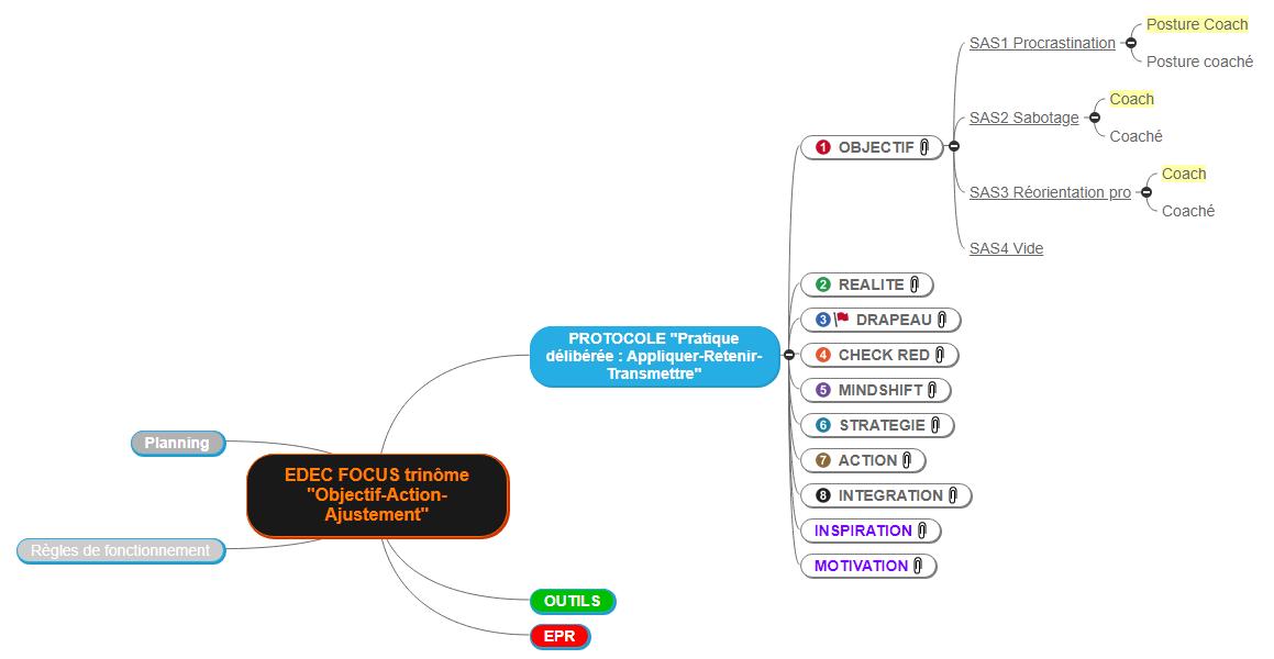 EDEC FOCUS trinôme _Objectif-Action-Ajustement_ Mind Maps